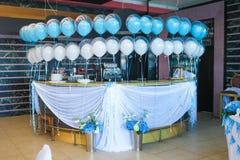 Interior of the restaurant, decorated Stock Photos