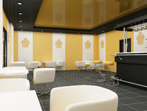 Interior of Restaurant. Modern Bar. Cafe. Interior of Restaurant. Modern Bar. Comfortable Cafe royalty free stock images