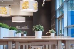 The interior restaurant Stock Image