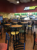 Interior of restaurant Subway in market. TX USA Royalty Free Stock Image