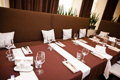 Interior of the restaurant Royalty Free Stock Images