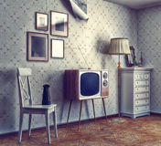 Interior retro Foto de Stock Royalty Free