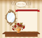 Interior retro background Royalty Free Stock Photo