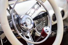 Interior of retro car Royalty Free Stock Photography