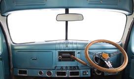 Interior of a retro car Royalty Free Stock Photos