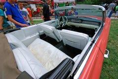 Interior retro del coche Fotografía de archivo libre de regalías