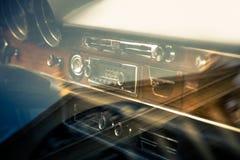 Interior retro del coche del vintage Imágenes de archivo libres de regalías