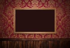 Interior retro rojo foto de archivo libre de regalías