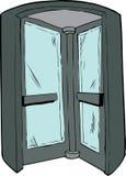 Interior of Revolving Door Stock Image