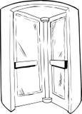 Interior of Revolving Door Outline Stock Images