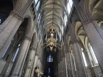 Interior rheims cathedral france. Interior of rheims cathedral in france Royalty Free Stock Photos