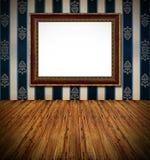 Interior rico oscuro del marco de oro con estilo Fotos de archivo libres de regalías