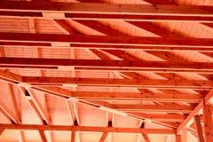 Interior of the ridge beams on the veranda cafe Royalty Free Stock Photo