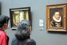 Interior of Rijksmuseum in Amsterdam, Netherlands stock photos