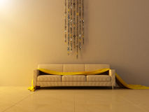 Interior - Ring chain decorated wall Stock Photo