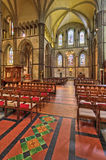 The interior of Rochester Cathedral. Colorful interior of Rochester Cathedral, with beautiful lighting Royalty Free Stock Photo