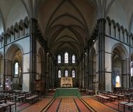 Interior of Rochester cathedral - the gothic church in town Rochester. In Great Britain stock photography