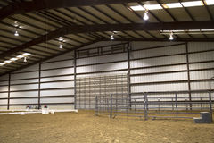 Interior of a rodeo arena. Interior of a nice  rodeo arena Stock Photos