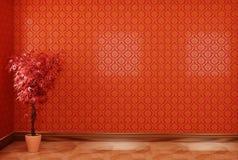 Interior rojo ilustración del vector