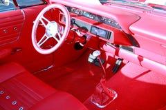 Interior rojo del coche imagen de archivo libre de regalías