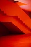 Interior rojo del pasillo imagenes de archivo
