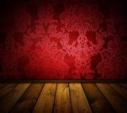 Interior rojo sostenido de la vendimia Imagen de archivo libre de regalías