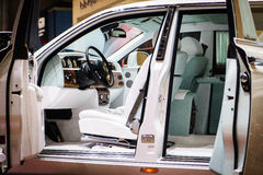 Interior of Rolls-Royce Phantom, Motor Show Geneve 2015 Royalty Free Stock Photography