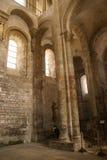 Interior Románico de Abbey Church Imagenes de archivo