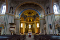 Interior of the Roman Catholic Church of St. Peter and St. Paul. Royalty Free Stock Photography