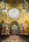 Interior of the roman catholic church St. Stephen's Basilica. royalty free stock image