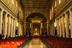 Interior of a Roman church Royalty Free Stock Photography