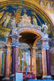 Interior of roman church, Rome, Italy Stock Images