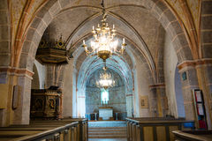 Interior of a roman church with unique frescoes Royalty Free Stock Photos