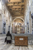 Interior of roman church Royalty Free Stock Photography