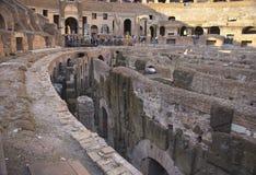 Interior of Roman Coliseum, Rome, Italy Stock Photo