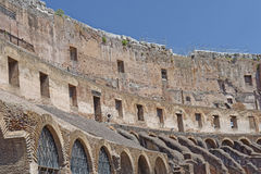 Interior of Roman Coliseum, Rome, Italy Royalty Free Stock Photo
