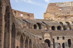 Interior of Roman Coliseum, Rome, Italy Royalty Free Stock Photo