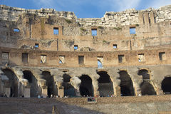 Interior of Roman Coliseum, Rome, Italy Royalty Free Stock Images