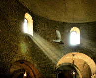 Interior of Romanesque church. Royalty Free Stock Image
