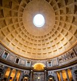 Interior of Rome Pantheon Royalty Free Stock Image