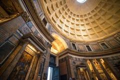 Interior of Rome Pantheon Stock Photos