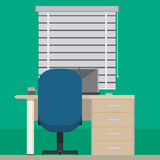 Interior room. As an office or usual workplace Stock Image