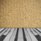Interior room background with corkboard wall Royalty Free Stock Images