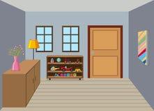Interior of room background. Illustration vector illustration