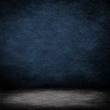 Interior room with blue, concrete wall Royalty Free Stock Photo