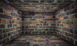 Brick walls and floor  Stock Image