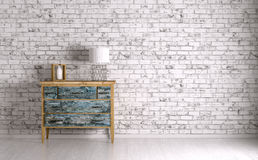 Interior of a room with chest of drawers 3d render Royalty Free Stock Image