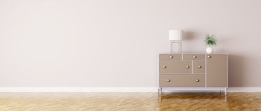 Interior of a room with chest of drawers Royalty Free Stock Images