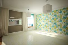 Interior room empty in modern style Royalty Free Stock Photography