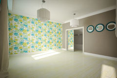 Interior room empty in modern style Stock Image